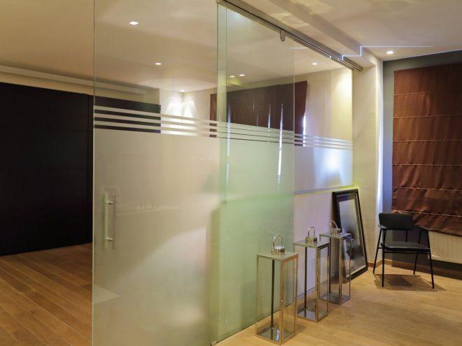 Ścianki i drzwi szklane